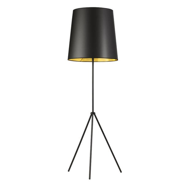 Dainolite 1-light 3 Leg Drum Black/ Gold Floor Fixture