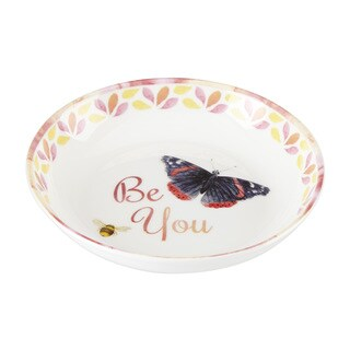 Lenox Butterfly Meadow 'Be You' Multicolor Porcelain Dish