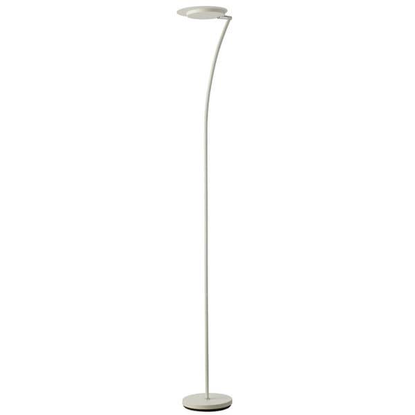 Dainolite 24-watt LED White Torchier Floor Lamp