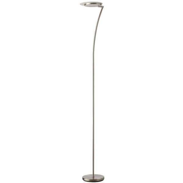 Dainolite 24-watt LED Satin Chrome Torchier Floor Lamp