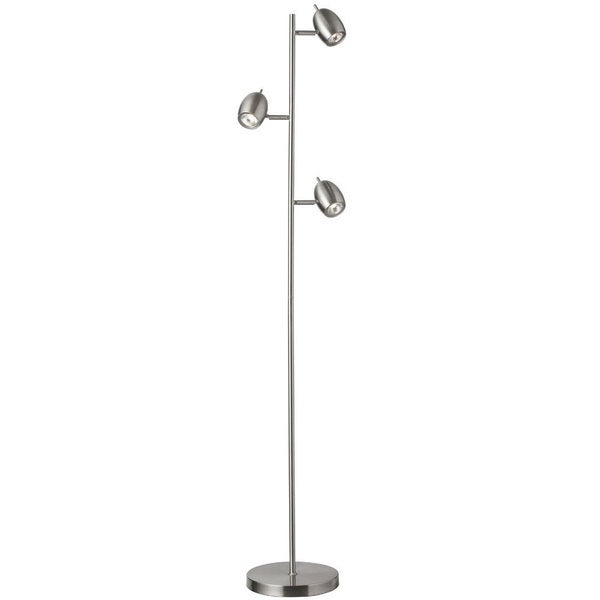 Dainolite 3-light Adjustable Steel Floor Lamp