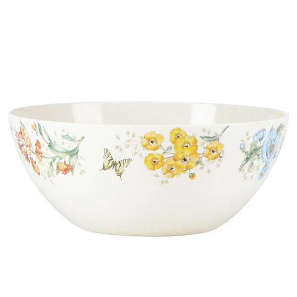 Lenox Butterfly Meadow Melamine Large Serving Bowl