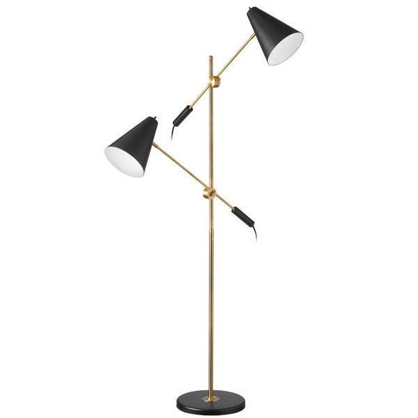 Dainolite 2 light matte black vintage bronze floor lamp for Dainolite 7 light floor lamp