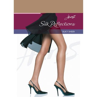 Silk Reflections Women's Reinforced Toe Pantyhose Barely There