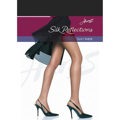 Silk Reflections Womens Jet Reinforced Toe Pantyhose