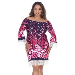 White Mark Women's Lenora Polyester/Spandex Plus-size Dress