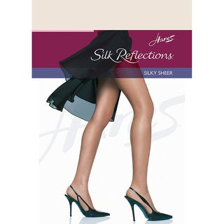 Silk Reflections Women's Reinforced Toe Pantyhose Pearl