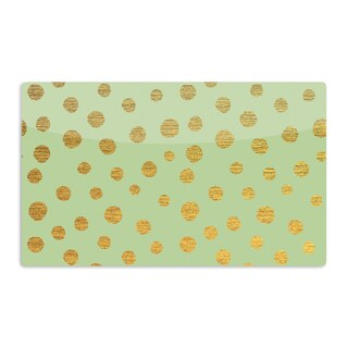 KESS InHouse Nika Martinez 'Golden Dots and Mint' Green Gold Artistic Aluminum Magnet