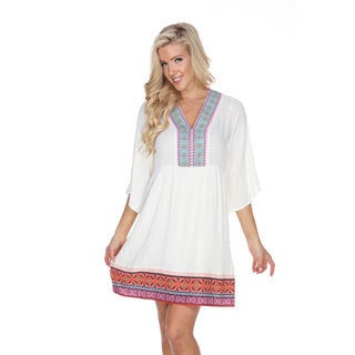 White Mark Women's Gabrielle Embroidered Dress (More options available)