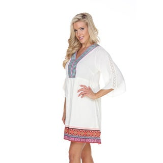 White Mark Women's Gabrielle Embroidered Dress