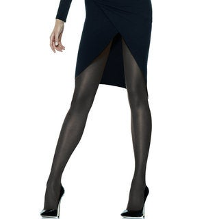 Silk Reflections Women's Jet Sheerest Support Control Top Sheer Toe Pantyhose