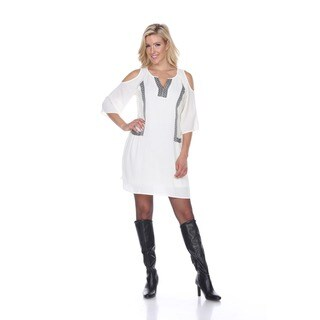 White Mark Women's Marybeth Embroidered Dress
