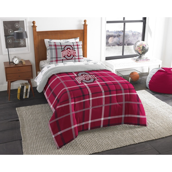 The Northwest Company COL 845 Ohio State Twin 5-piece Bed in a Bag with Sheet Set