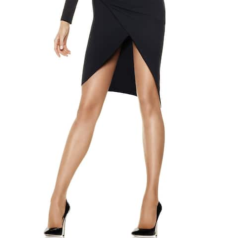 Silk Reflections Women's Little Color Sheerest Support Control Top Sheer Toe Pantyhose