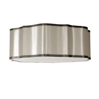 Dainolite Pebble Petal Steel 3-light Flush-mount Fixture