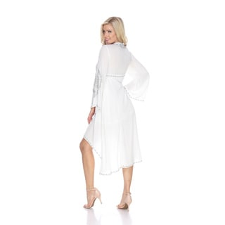 White Mark Women's Gwyneth Emroidered Dress
