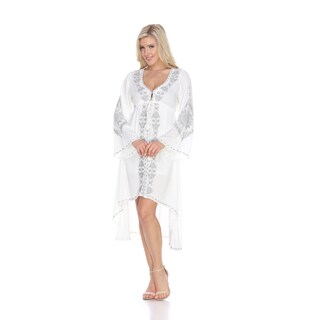 White Mark Women's Gwyneth Emroidered Dress (More options available)