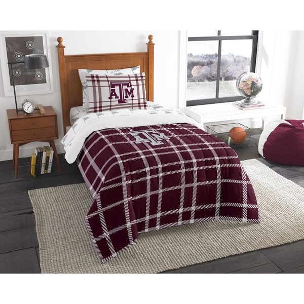 The Northwest Company Texas A&M Twin 5-piece Bed in a Bag with Sheet Set