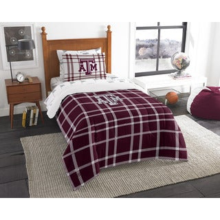 The Northwest Company COL 845 Texas A&M Twin 5-piece Bed in a Bag with Sheet Set