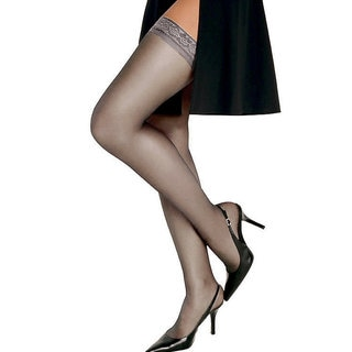 Silk Reflections Women's Silky Sheer Thigh High Soft Taupe Pantyhose