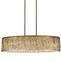 Dainolite Gold 7-light Crystal Oval Palladium Chandelier