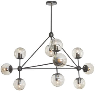 Dainolite 10-light Chandelier Triangular with Cogniac Glass