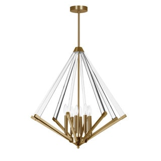 Dainolite Vintage Bronze 8-light Chandelier with Acrylic Arms