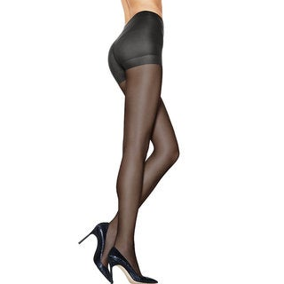 Hanes Women's Silk Reflections Barely Black Nylon and Spandex Ultra Sheer Control Top Pantyhose With Run-resistant Technology