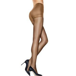 Silk Reflections Women's Ultra Sheer Control Top Pantyhose with Run Resistant Technology Barely There