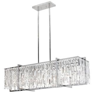 Dainolite Polished Chrome Crystal 9-light Horizontal Chandelier