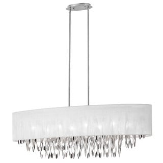 Dainolite Silver Steel 8-light Oval Chandelier