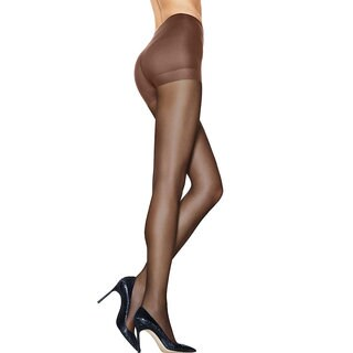 Silk Reflections Women's Ultra Sheer Control Top Pantyhose with Run Resistant Technology Gentlebrown