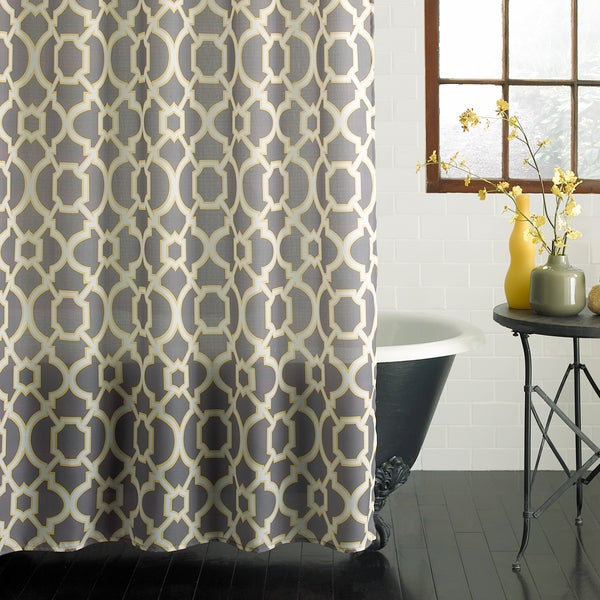 Excell Geo Lattice Shower Curtain