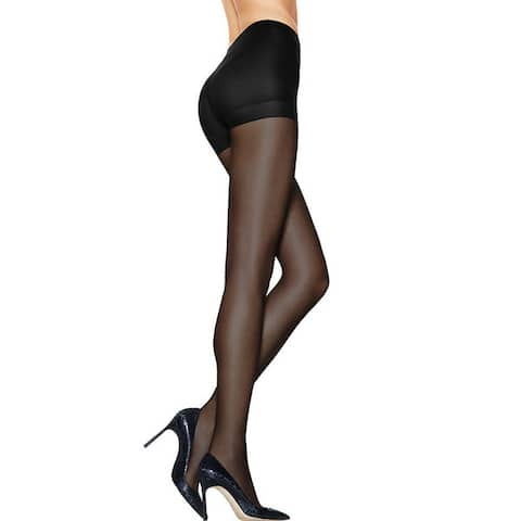 Silk Reflections Womens Ultra Sheer Control Top Pantyhose with Run Resistant Technology Jet
