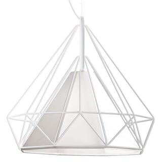 Dainolite White Steel 1-light Ceiling Pendant Fixture