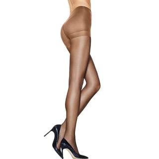 Silk Reflections Women's Ultra Sheer Control Top Pantyhose with Run Resistant Technology Little Color