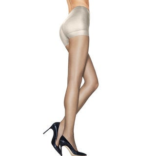 Silk Reflections Women's Ultra Sheer Control Top Pantyhose with Run Resistant Technology Natural