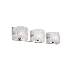Dainolite 3-lights Sugar Glass Polished Chrome Finish Vanity