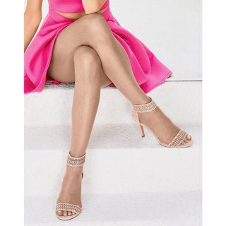 Silk Reflections Women's Ultra Sheer Toeless Control Top Pantyhose Bisque