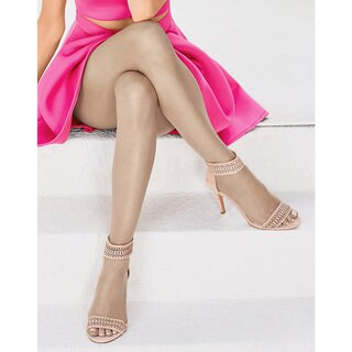 Silk Reflections Women's Ultra Sheer Toeless Control Top Pantyhose Buff
