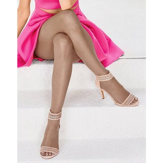 Silk Reflections Women's Ultra Sheer Toeless Control Top Pantyhose Cocoa
