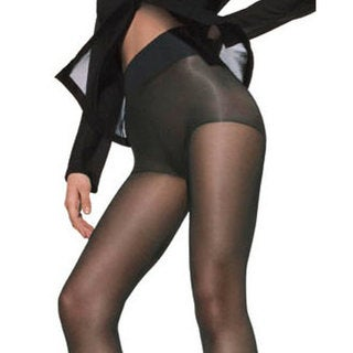 Silk Reflections Women's Waist Smoother Extended CT Barely Black Pantyhose