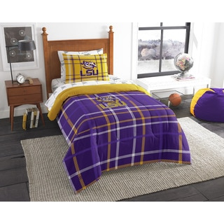 The Northwest Company COL 845 LSU Twin 5-piece Bed in a Bag with Sheet Set