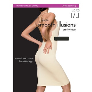 Smooth Illusions Women's Ultimate Contouring Pantyhose Barely Black