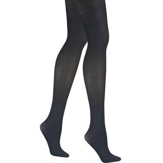 Matte Women's Black Opaque Control Top Tights Pantyhose