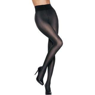 Silk Reflections Women's Luxe High Waist Sheer Tight Black Pantyhose