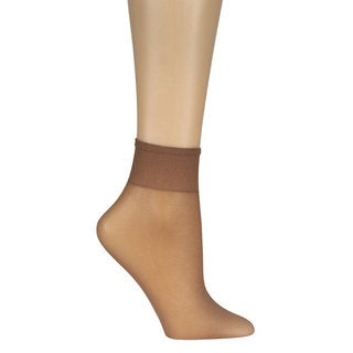 Everyday Women's Ankle High 10-Pair Suntan Pantyhose (One Size Fits Most)