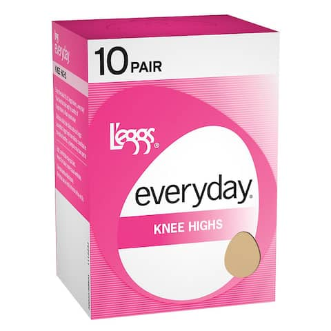 Everyday Women's Knee Highs Off Black RT Pantyhose (Pack of 10)