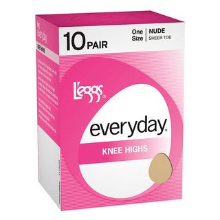 Everyday Women's Knee Highs Off Black ST Pantyhose (Pack of 10)