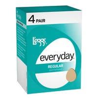 Everyday Women's Regular ST Off Black Pantyhose (Pack of 4)
